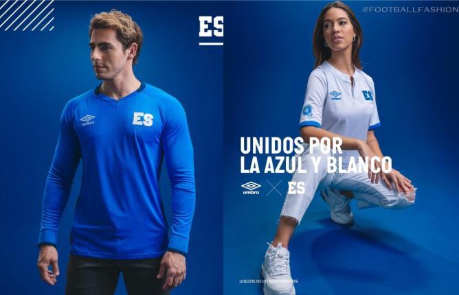 El Salvador 2021 2022 Umbro Home and Away Football Kits, 2021/22 Soccer Jersey, 2021-22 Shirt, Camiseta de Futbol 21/22