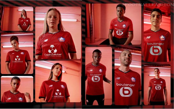 Lille OSC 2021 2022 New Balance Home Football Kit, 2021-22 Soccer Jersey, 2021/22 Shirt, Maillot 21-22