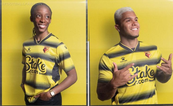 Watford FC 2021 2022 Kelme Home Football Kit, 2021-22 Soccer Jersey, 2021/22 Shirt