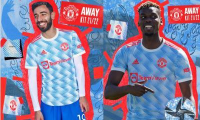 Manchester United 2021 2022 adidas Blue Away Football Kit, 2021-22 Shirt, 2021/22 Soccer Jersey, Maillot, Camiseta 21/22, Camisa 21-22, Trikot