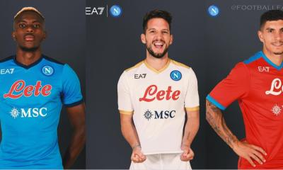 SSC Napoli 2021 2022 Armani EA7 Home, Away and Third Football Kit, 2021/22 Soccer Jersey, 2021-22 Shirt, Maglia 21-22, Camiseta 21/22