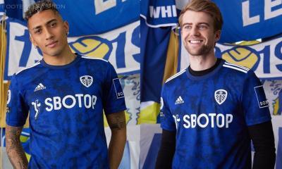 Leeds United 2021 2022 adidas Blue Away Football Kit, 2021-22 Soccer Jersey, 2021/22 Shirt, Camiseta 21-22