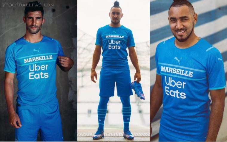 Olympique Marseille 2021 2022 PUMA Third Kit, 2021-22 Soccer Jersey, 2021/22 Shirt, Maillot 21-22