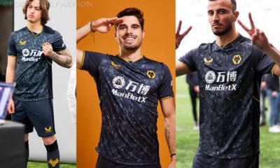 Wolverhampton Wanderers 2021 2022 Castore Away Football Kit, 2021-22 Shirt, 2021/22 Soccer Jersey, Camisa 21-22, Camiseta 21/22