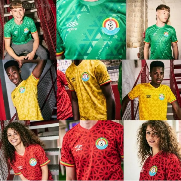 Ethiopia 2021 2022 Home, Away and Third Football Kit, 2021/22 Soccer Jersey, 2021-22 Shirt