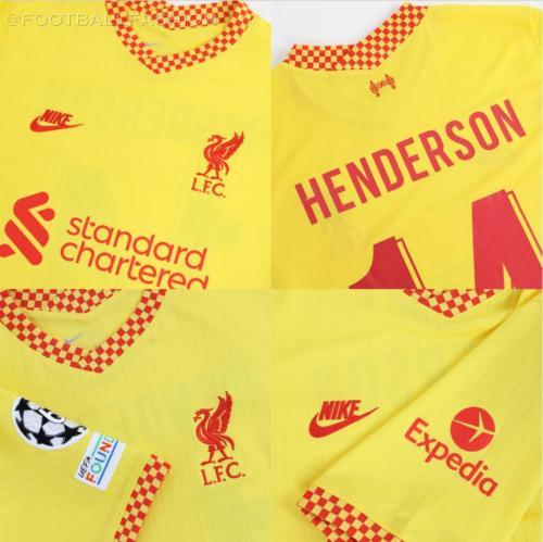 Liverpool FC 2021 2022 Nike Yellow Third Football Kit, 2021-22 Soccer Jersey, 2021/22 Shirt, Camiseta, Camisa, Maillot, 21/22 Trikot