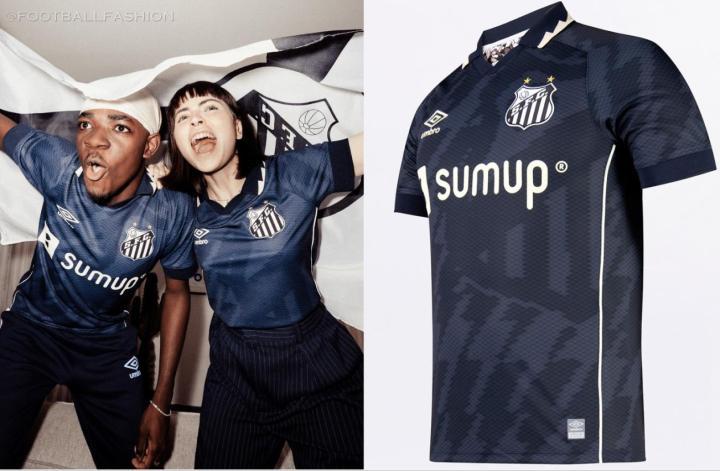 Santos FC 2021 2022 Umbro Third Football Kit, 2021-22 Soccer Jersey, 2021/22 Shirt, Camisa