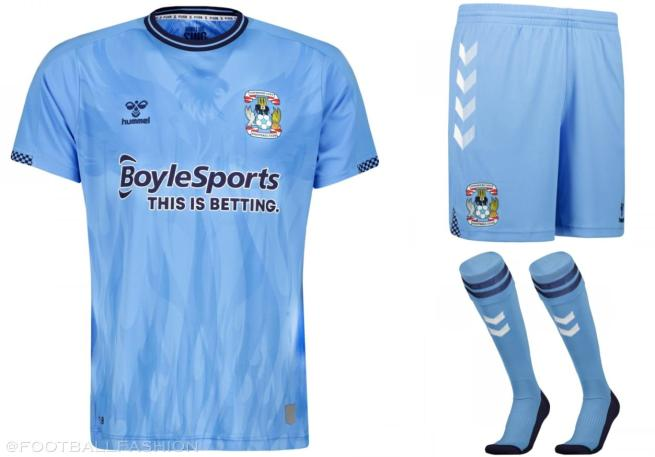 Coventry City 2021 2022 hummel Home and Away Football Kit, 2021-22 Soccer Jersey, 2021/22 Shirt
