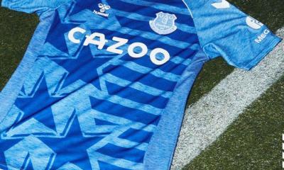 Everton FC 2021 2022 hummel USA Stars and Stripes Football Kit, 2021-22 Soccer Jersey, 2021/22 Shirt, Camiseta 21/22