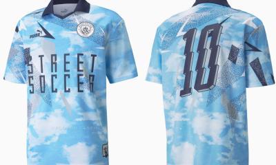 Manchester City x PUMA 2021 2022 Street Soccer Jersey, 2021-22 Football Kit, 2021/22 Shirt, Maillot 21-22, Camiseta 21/22, Camisa