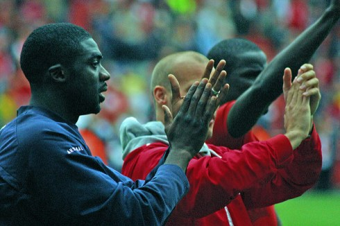 Kolo Toure and Emmanuel Eboué