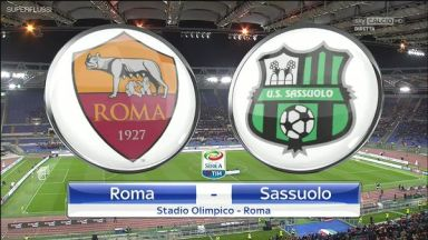 Full match: Roma vs Sassuolo