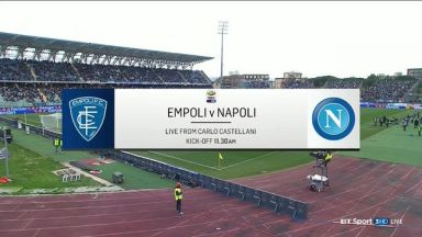 Full match: Empoli vs Napoli