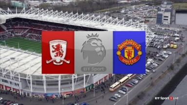 Full match: Middlesbrough vs Manchester United