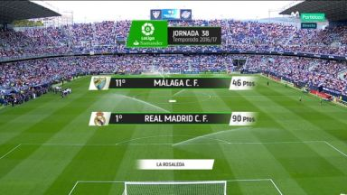 Full match: Malaga vs Real Madrid