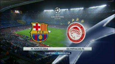 Full match: Barcelona vs Olympiakos Piraeus