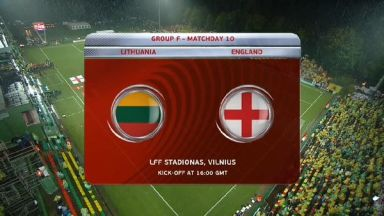 Full match: Lithuania vs England