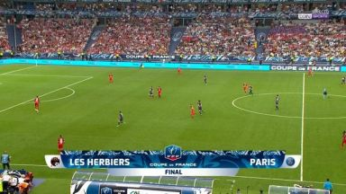 Full match: Les Herbiers vs PSG