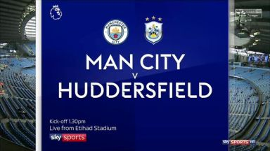 Full match: Manchester City vs Huddersfield Town