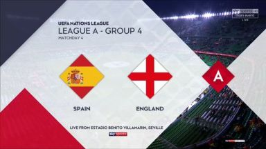 Full match: Spain vs England