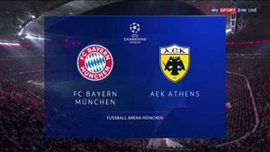 Full match: Bayern Munich vs AEK Athens