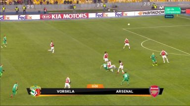 Full match: Vorskla vs Arsenal