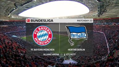 Full match: Bayern Munich vs Hertha BSC