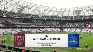 Full match: West Ham United vs Everton
