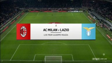 Full match: AC Milan vs Lazio