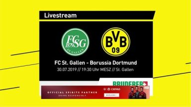 Full match: St. Gallen vs Borussia Dortmund