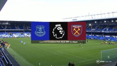 Full match: Everton vs West Ham United