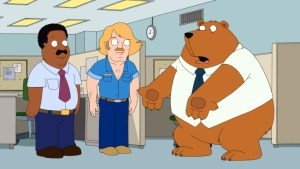 Tim the Bear in Office
