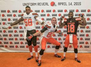 Hartline showing off Uniform - Cleveland Browns