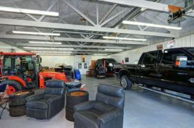JJ Watt's Cabin Garage - Redfin Photo