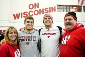 Connie Watt, Derek Watt, TJ Watt, John Watt - NY Times Photo