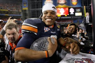 Cam Newton winning the NCAA National Championship Game - CBS Photo