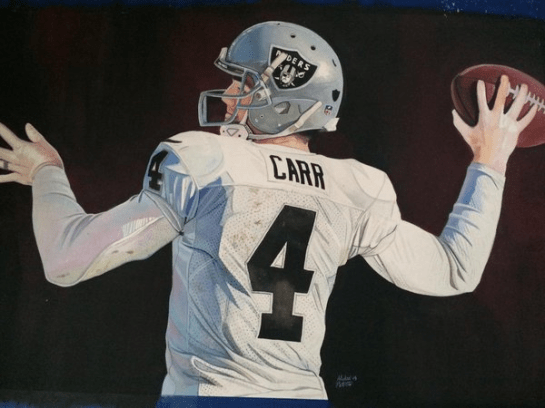 Derek Carr by Michael Pattison