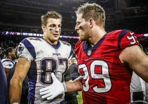 Rob Gronkowski and JJ Watt