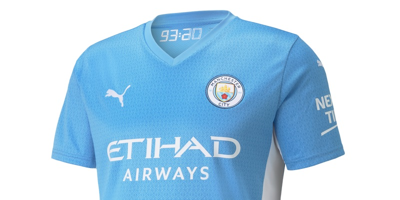Manchester City's New 21/22 Puma Home Kit is Out