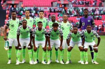 Image result for Rohr calls for permanent stadium for Super Eagles