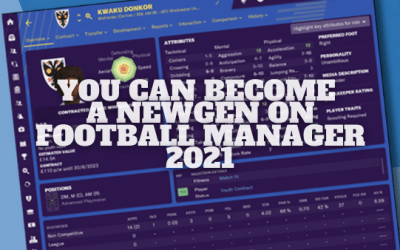You Can Become a NewGen Player on Football Manager 21