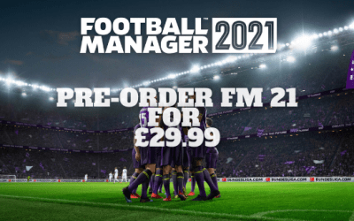 Pre-Order Football Manager 21 on PC/Mac for £29.99