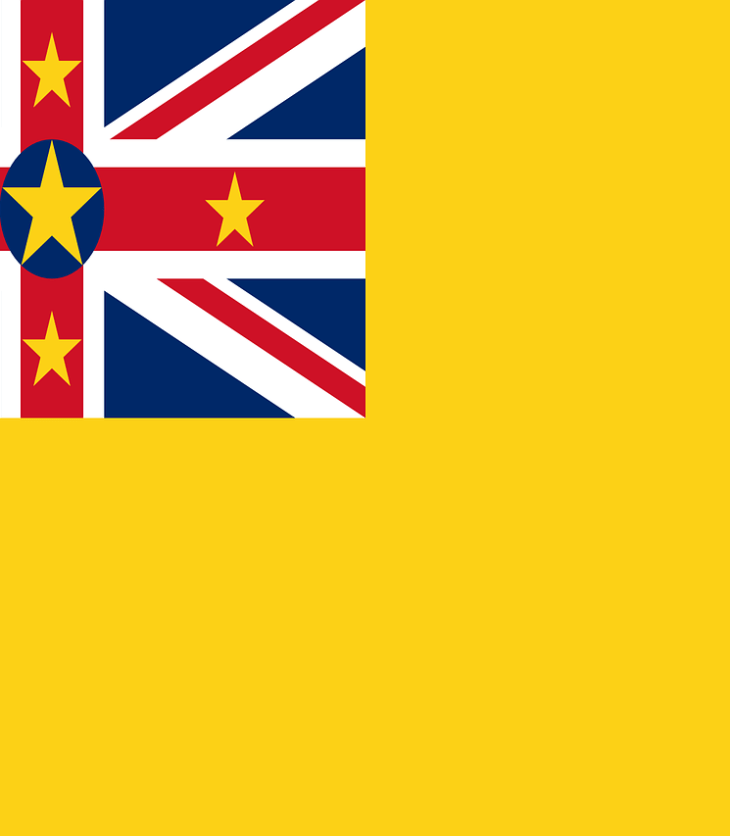 The flag of Niue.