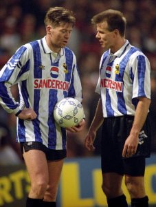 Chris Waddle and Roland Nilsson, Sheffield Wednesday