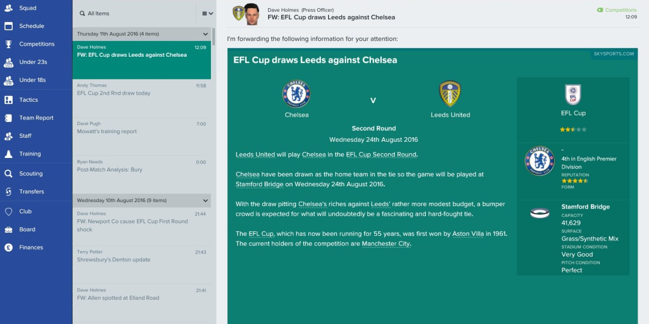 The Football Pink Football Manager challenge: Leeds United Part 2 – the early weeks