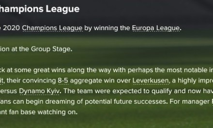 The Football Pink Football Manager challenge, part 8: Marching on Together