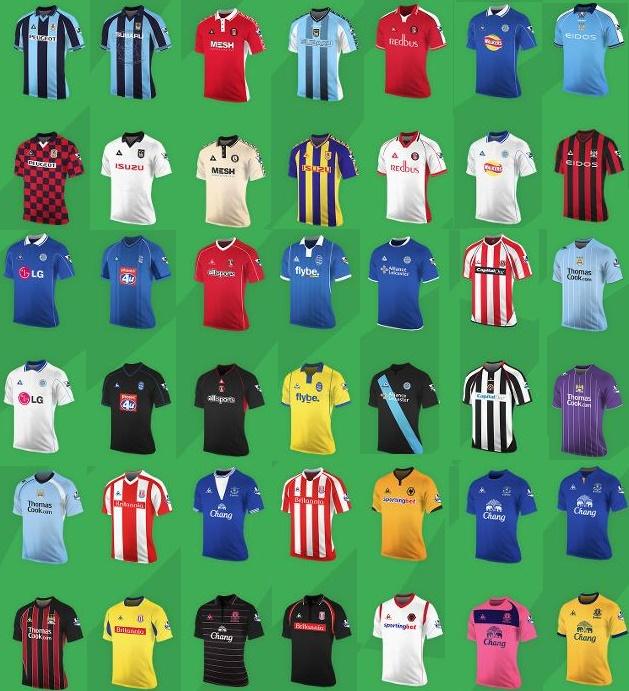 Premier League Le Coq Sportif kits