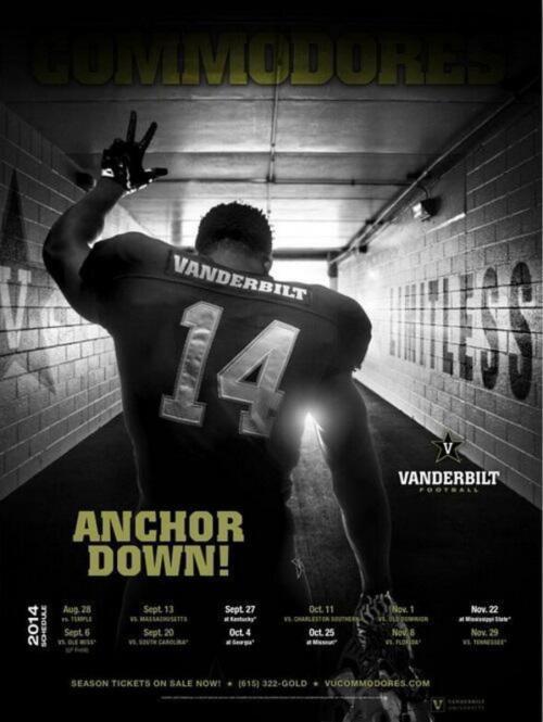 Vanderbilt schedule poster