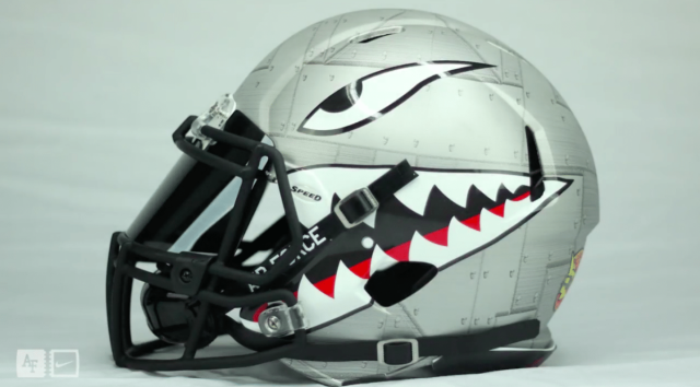 Check Out Air Force S New Quot Sharktooth Quot Helmets Footballscoop