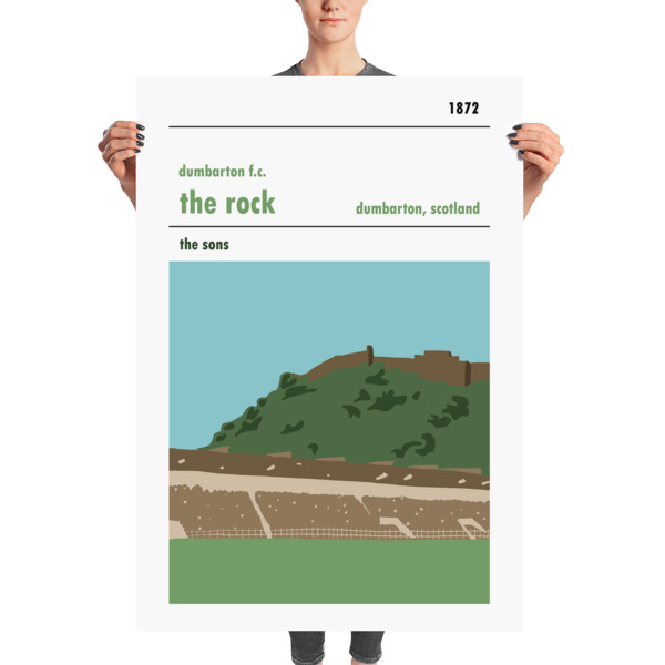 A massive football poster of the Rock and Dumbarton FC